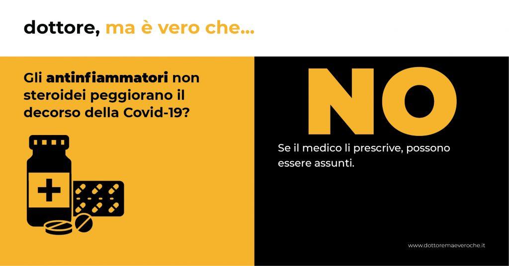 Gli antinfiammatori non steroidei peggiorano il decorso della Covid-19 card
