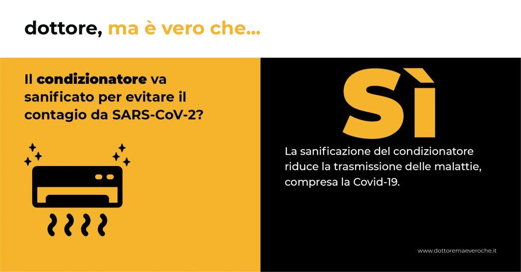 condizionatore sanificato Covid-19 card