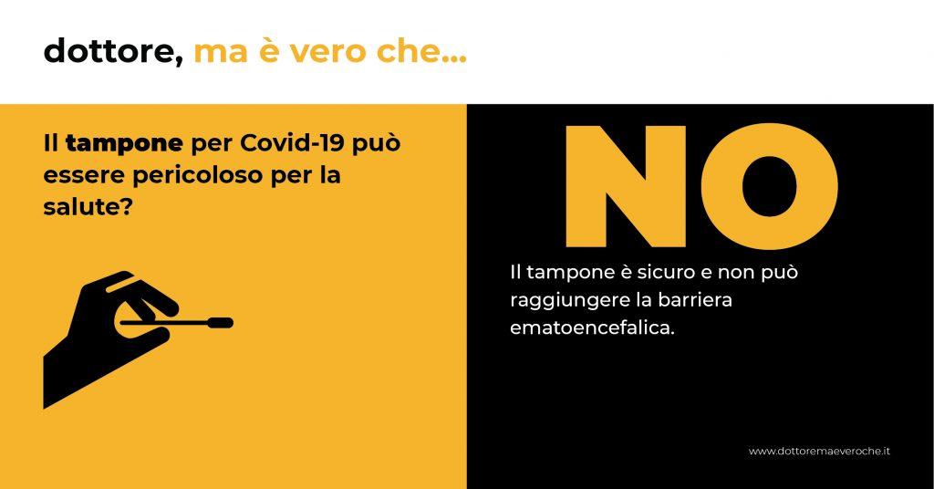 tampone per Covid-19 coronavirus card