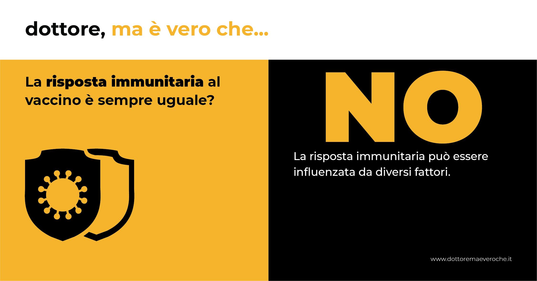 La risposta immunitaria al vaccino è sempre uguale: card