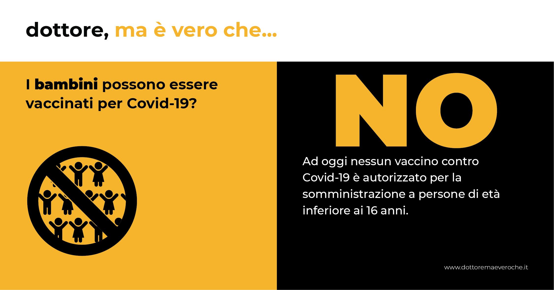 Card: i bambini possono essere vaccinati per Covid-19?